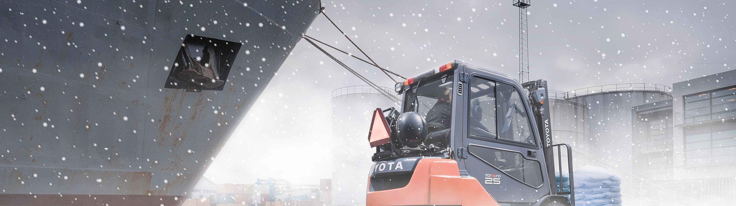 Zimní výbava vzv Toyota Tonero plném výkonu!