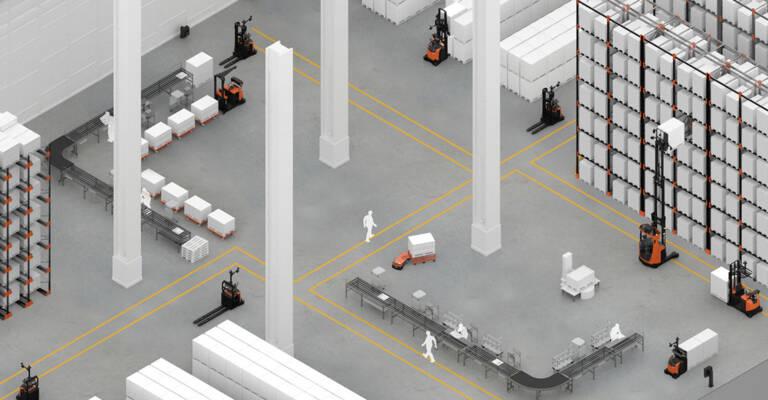 AGV Toyota Autopilot range