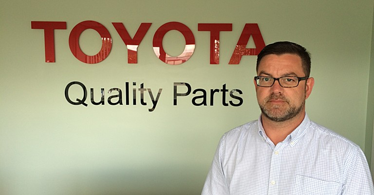 National parts manager, Chris Pole