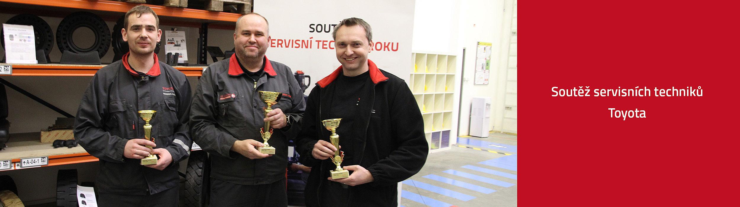 Soutěž servisních techniků Toyota - vítězové