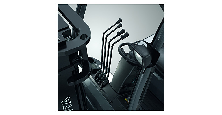 Manual hydraulic forklift levers