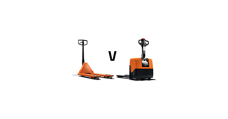 Powered pallet truck vs hand pallet truck