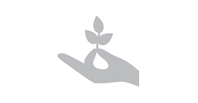Icon of a tree growing in a hand