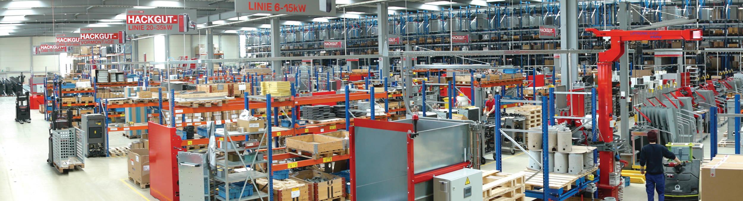 línea de producción de hargassner