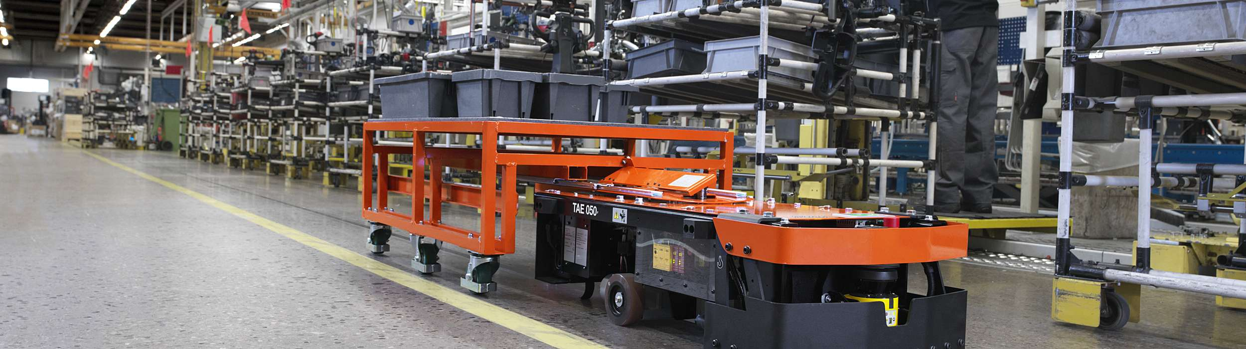 Lean Transportation With The New Automated Guided Cart From Toyota Material  Handling