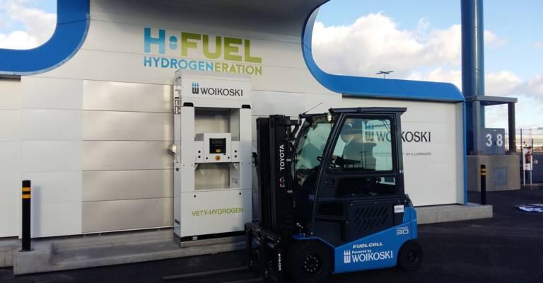 Blå hydrogen gaffeltruck