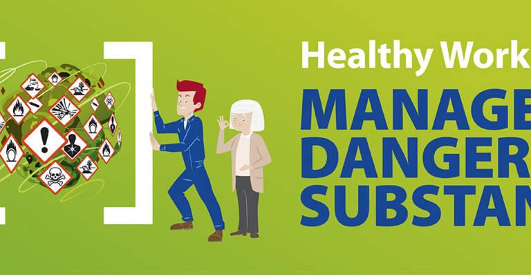 Ilustrácia ľudia a zdravé pracovisko