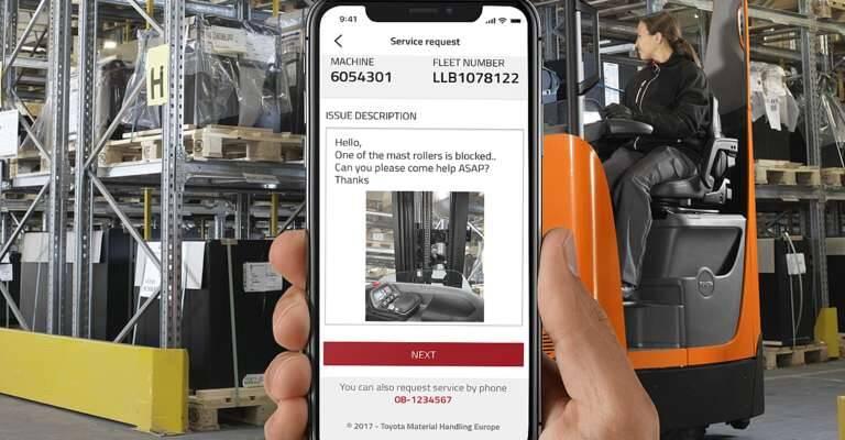 I_Site aplikacia na mobilnom telefóne v sklade