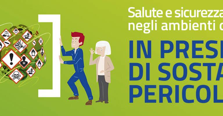 Illustrazione di persone che confinano al sicuro sostanze pericolose