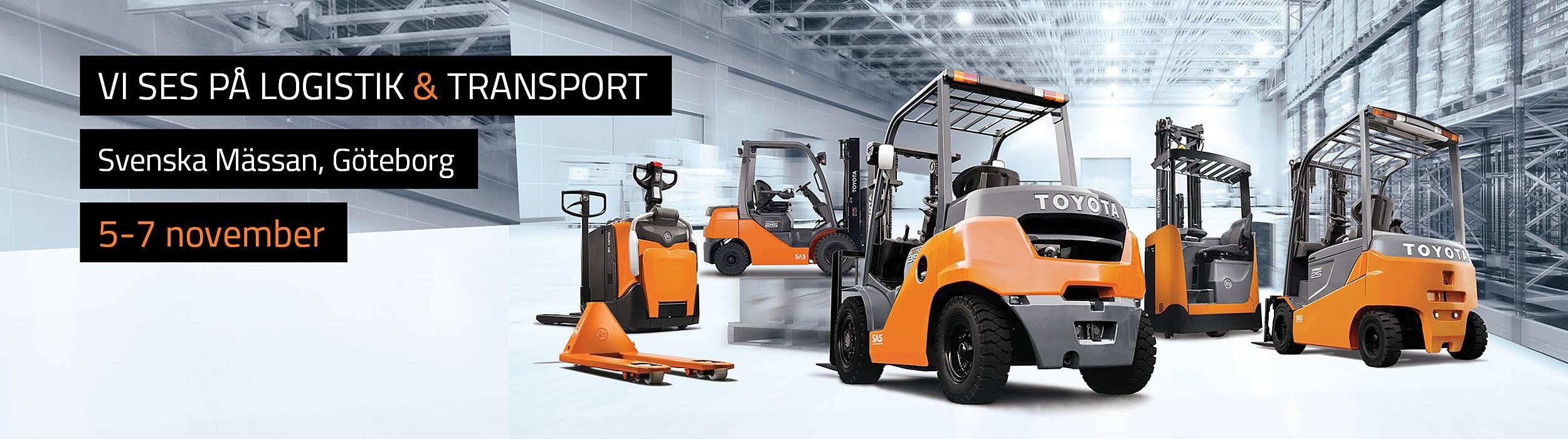 Toyota Material Handling Sweden ställer ut på Logistik & Transport 2018