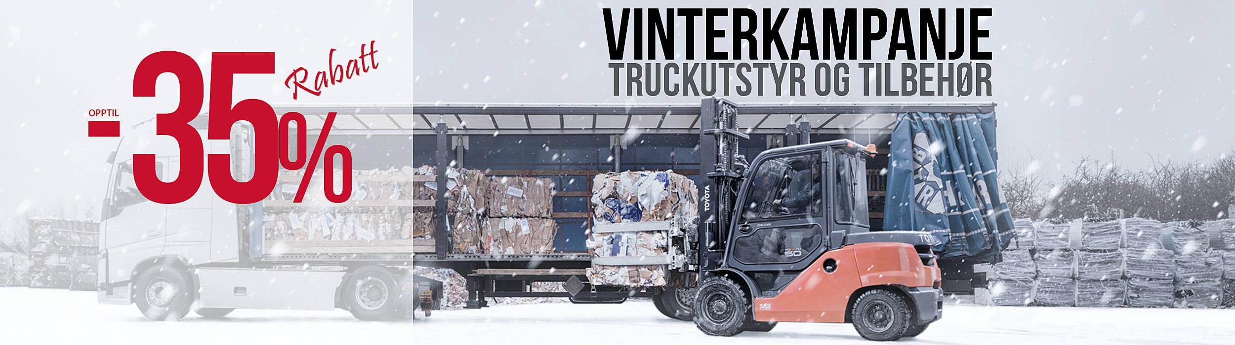 Vinterkampanje truckutstyr og tilbehør