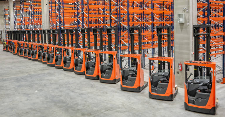 Racking and forklift solution for Kesko