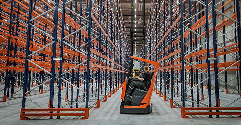 The tilting cab on the Toyota reach trucks increase safety at height and improve productivity.