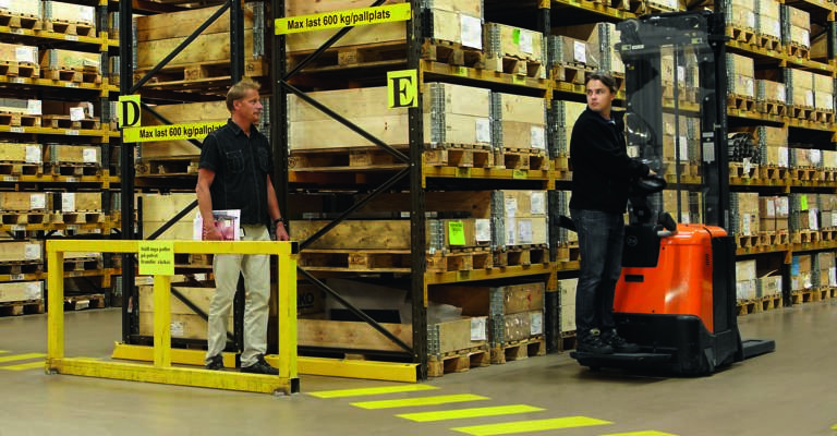 Spotme in action in warehouse