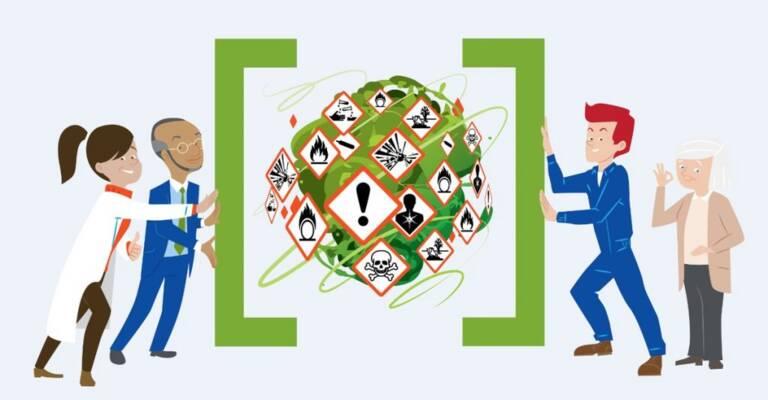 Ilustración con dos personas que sostienen una llave