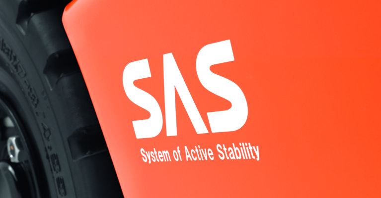 Close up on SAS logo on truck