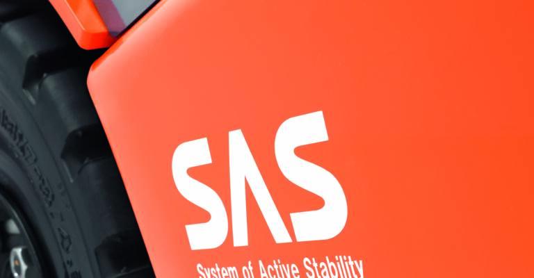 SAS-logo trukissa