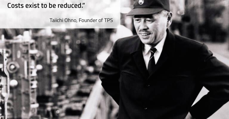 Taiichi Ohno, grundare av Toyota Production System