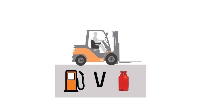 Gas vs diesel fuel type