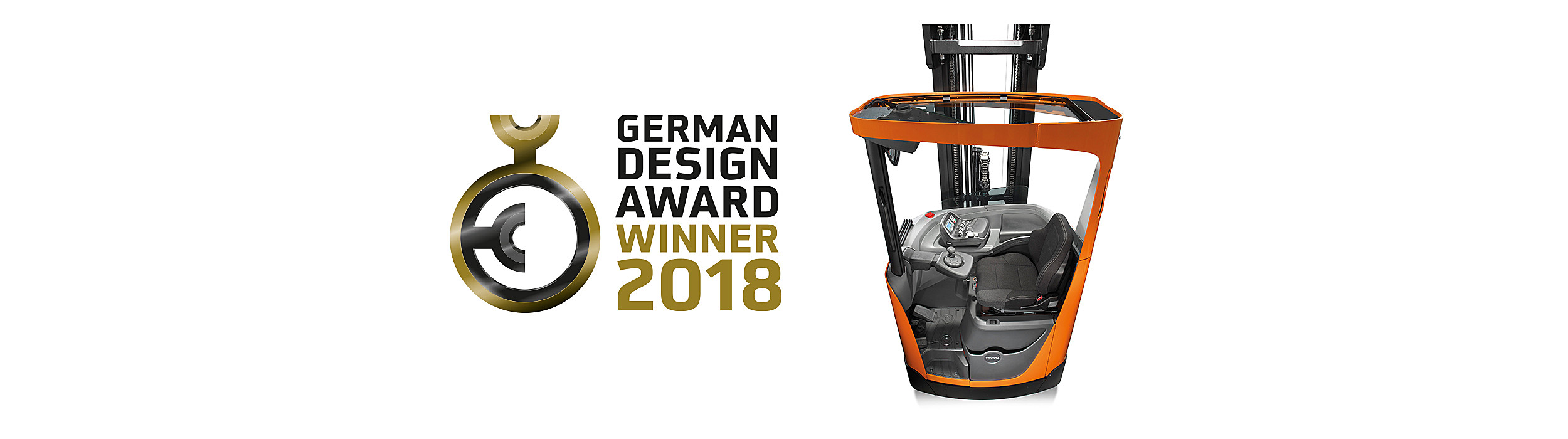 German Design Award Winner 2018 Toyota BT Reflex reach truck