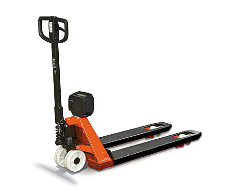 Hand pallet truck for weighing