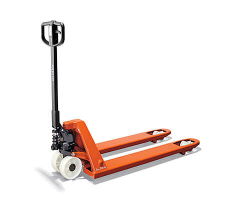 Hand pallet truck on white background