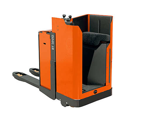 Stand-in powered pallet truck