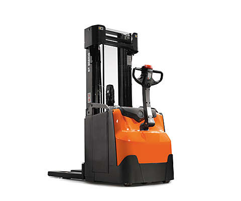 Compact powered stacker