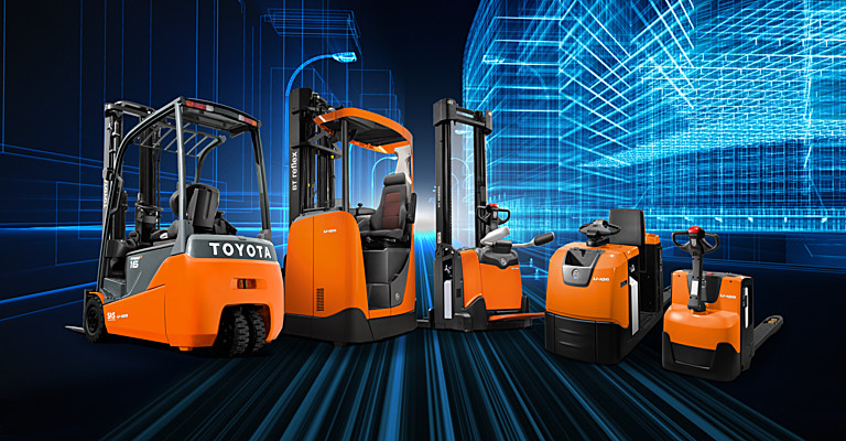 Lithium ion forklift trucks and warehouse equipment