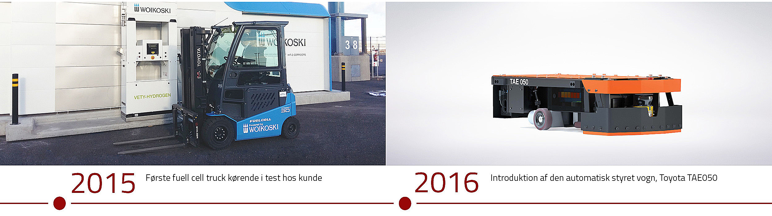 Historie Toyota Material Handling 2015 and 2016