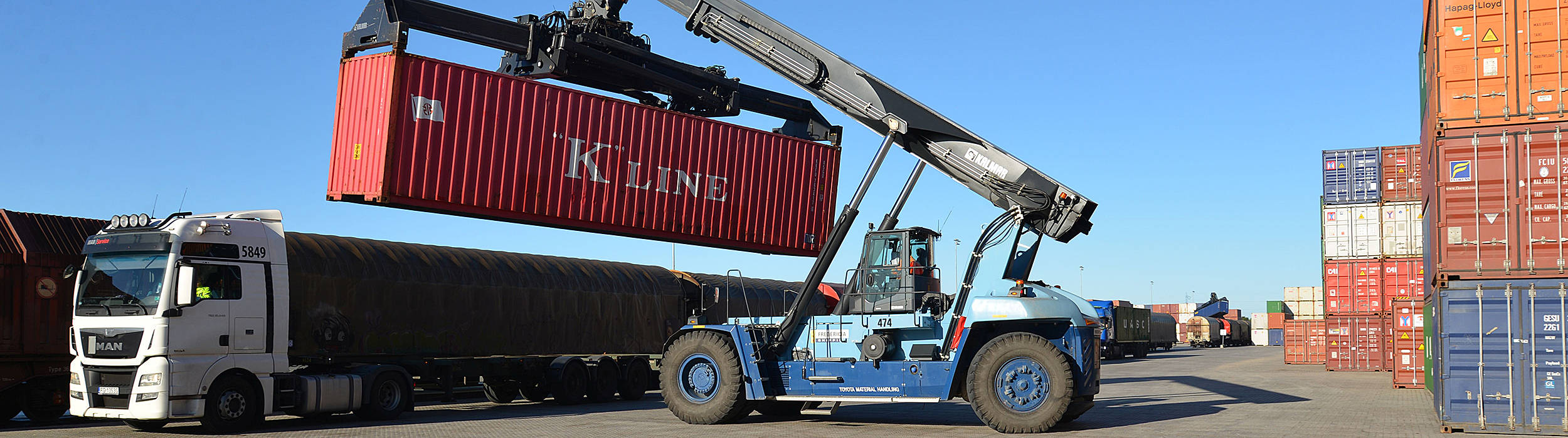 Kalmars reachstackere styrker terminaldriften