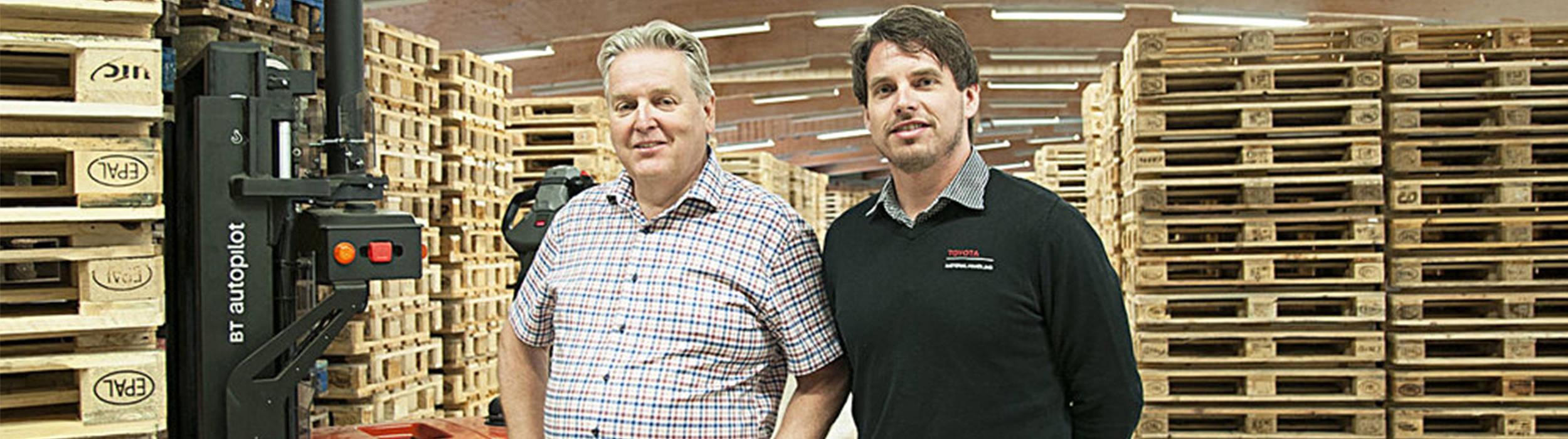 Pallegrossisten og Toyota Material Handling Norway i helautomatisk lager