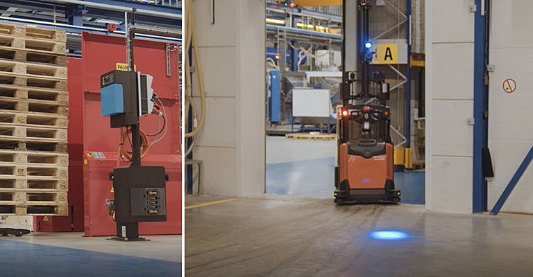 Automated lithium ion stacker from Toyota