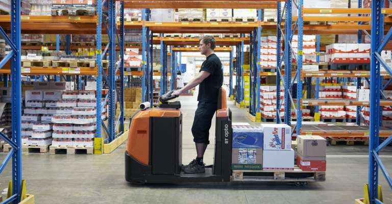BT Optio OSE250 order picking truck in warehouse