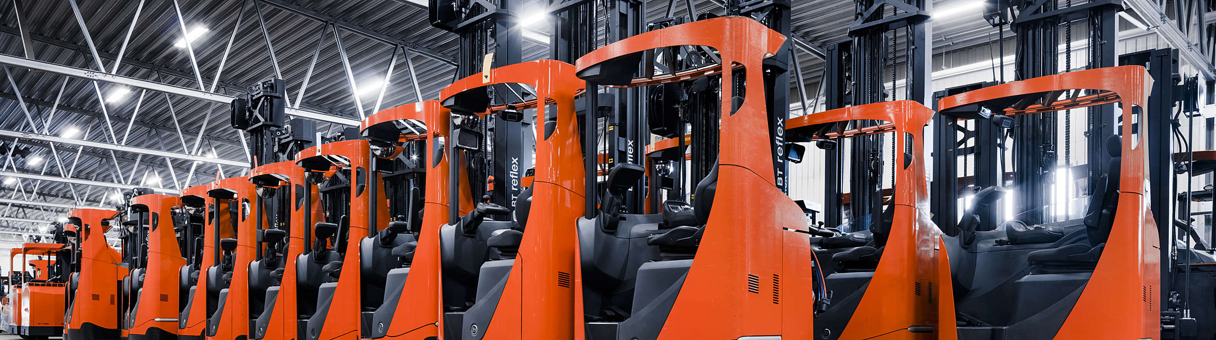 Toyota fleet of reach trucks